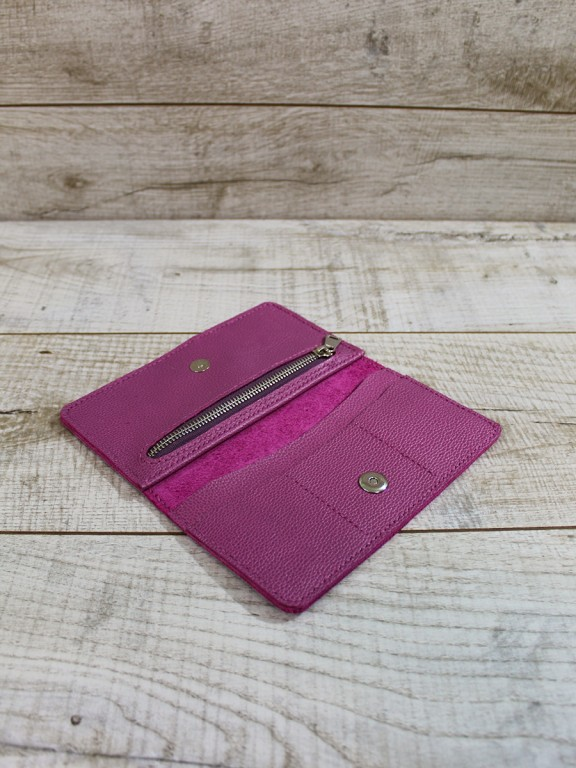 Кожаный кошелек L04052