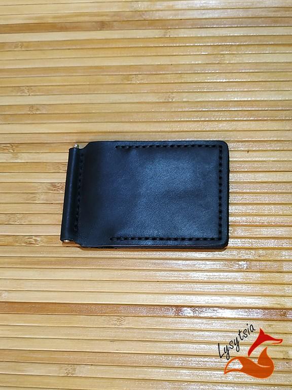Шкіряний затискач для грошей L04010